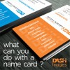 What can you do with a name card?